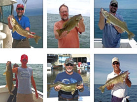 Examples of fishermen and their catches on Mega Bites Charters