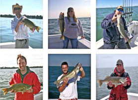 These fishermen caught their fish in Lake Erie